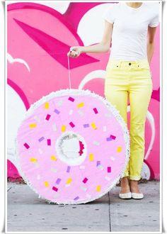 Donut Pinata - Bildanleitung - step by step tutorial