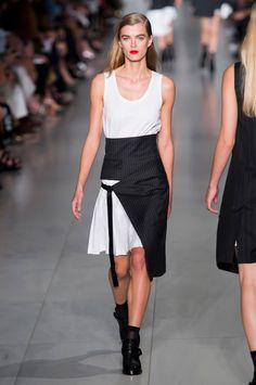 Runway pictures from the DKNY collection at New York Fashion Week Spring 2016.