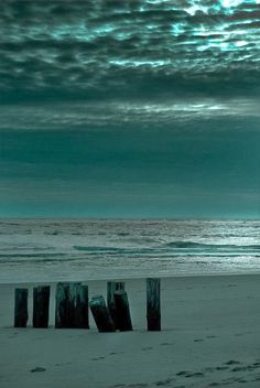 Teal Blue and Black in Nature - Beach and Ocean and Sky Ocean Beach, Beach Bum, Nature Beach, Ocean Waves, Ligne D Horizon, Foto Poster, I Love The Beach, Am Meer, Beautiful Beaches