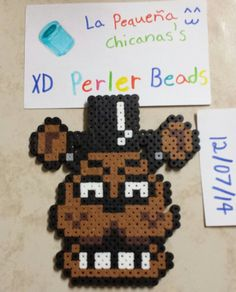 Freddy perler beads by LaPequenaChicana on DeviantArt Hama fnaf