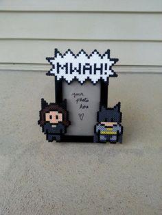 Catwoman and Batman Picture Frame  Couples door BurritoPrincess, $15.00