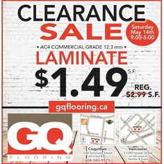 FLOORING - CLEARANCE TENT SALE!!! Drop by our Coquitlam location and check out our Clearance Tent Sale this Saturday, May 14th, 2016 from 9:00am - 5:00 pm! GQ Flooring - Coquitlam 3-68 Schooner Street Coquitlam, BC V3K 7B1 Tent Sale, Gq, The Unit, Drop, Events, Flooring, Street, Instagram Posts, Check