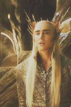 "Lee Pace as #Thranduil. He seems to be making constant ""o"" face..."