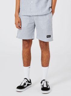 NICCE Striped Textured Shorts Asos, Shorts, Trending Outfits, Swimwear, How To Wear, Men, Clothes, Fashion, Bathing Suits