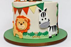 Super Baby Shower Ides For Boys Themes Safari Jungle Cake Ideas Safari Party, Jungle Safari Cake, Jungle Theme Cakes, Safari Baby Shower Cake, Safari Cakes, Jungle Birthday Cakes, Second Birthday Cakes, Safari Theme Birthday, Animal Birthday Cakes