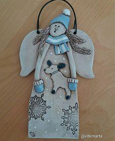 #keramika #ceramics #ceramica #vanoce #advent #christmasdecoration Christmas Art, Christmas Decorations, Christmas Ornaments, Holiday Decor, Clay Projects, Interior Design Living Room, Ceramics, Winter, Polymers