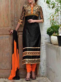 Buy Ladyview black cotton  Online, , LimeRoad Pakistani Salwar Kameez, Anarkali Suits, Shalwar Kameez, Punjabi Fashion, Indian Fashion, Buy Suits, Asian Wedding Dress, Suits For Women, Clothes For Women