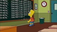 Judas priest no es una banda de death metal att  Bart Simpson