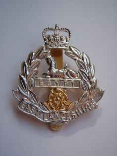 East Lancashire Regiment Anodised (Staybrite) Cap Badge Army Badges, Military Insignia, British Army, Commonwealth, Respect, Patches, Cap, Buttons, Baseball Hat