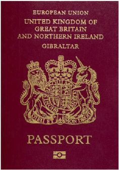 British passports issued in Gibraltar differ from UK issued ones only in some of the wording but otherwise have the same status. Description from en.wikipedia.org. I searched for this on bing.com/images