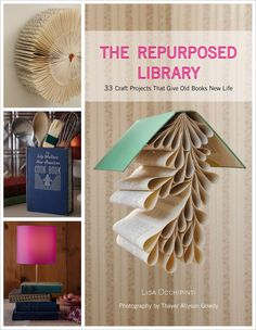 """We all love to read and learn from books, but """"The Repurposed Library"""" takes our passion even further, presenting us with 33 projects to make--quite literally--out of books. For these projects, Lisa Occhipinti rescues and repurposes orphaned and outdated books from flea markets and library sales and turns them into new art objects and practical items for the home."""