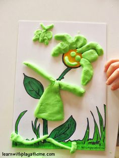 Playdough Flower Mat. Free Printable. Playful Maths and creative fun. Practice fine motor skills and develop hand strength for writing.