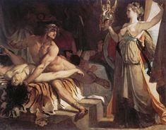 Henri Regnault - Thetis brings the new arms forged by Vulcan. Tags: patroclus, patroclos, patroklos, achilles, achilleus, thetis, nereids, nymphs, vuldan, hephaestus, hefaistos,