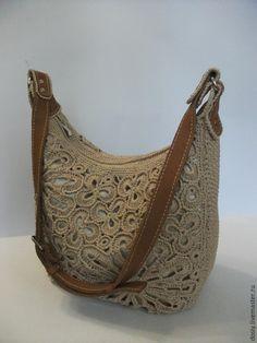 """Купить вязаная сумка """"Мираж"""" - бежевый, вязаная сумка, женская сумка, ручная авторская работа"""