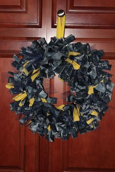 "Navy Wreath. Mix with some Marine Corps Digi and hang on the door, with sign ""house divided"""