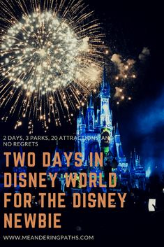 Overwhelmed with your Disney vacation? Are you a Disney newbie? If you are, you need to read my guide on planning a two day trip to Walt Disney World for the Disney Newbie. Because Disney World deserves all the planning power you can summon!
