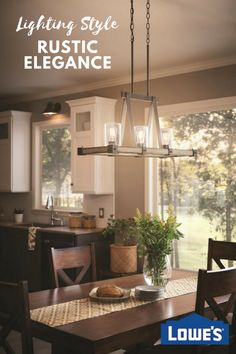 A Distressed Black And Wood Finish Kitchen Dining Light From The Kichler  Collection Offers A Touch