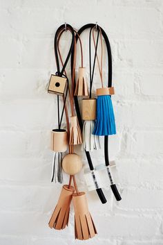 Leather tassles.