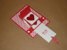 Hearts waterfall card