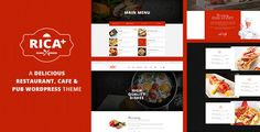 Rica Plus - A Delicious Restaurant, Cafe & Pub WP Theme . Rica has features such as High Resolution: Yes, Widget Ready: Yes, Compatible Browsers: IE11, Firefox, Safari, Opera, Chrome, Compatible With: WooCommerce 2.6.x, WooCommerce 2.5, Visual Composer 4.11.x, Visual Composer 4.11.2.1, Bootstrap 3.x, Software Version: WordPress 4.6.1, WordPress 4.6, WordPress 4.5.x, Columns: 4+