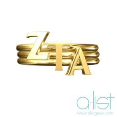 Zeta Tau Alpha Stack Rings - Available in silver, gold and rose gold | Shop the latest sorority jewelry trends at www.alistgreek.com