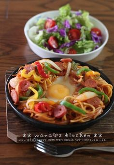 Japanese Style Tomato Ketchup Spaghetti 鉄板ナポリタン