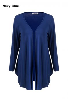 Meaneor Korean Stylish Ladies Women Casual Long Sleeve Solid Irregular Asymmetric Cardigan Thin Coat Outwear
