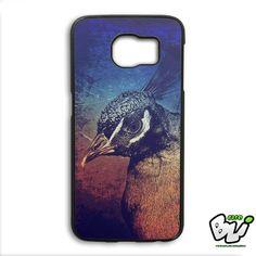 Peacock Art Illustration Samsung Galaxy S6 Edge Case