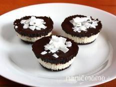 Raw čokoládovo kokosové košíčky - recept