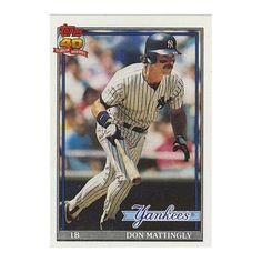 Don Mattingly 1991 Topps Baseball Card by RockPopAtoZ on Etsy