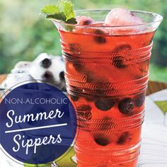 Serve a refreshing tea, lemonade or mocktail at your barbecue!