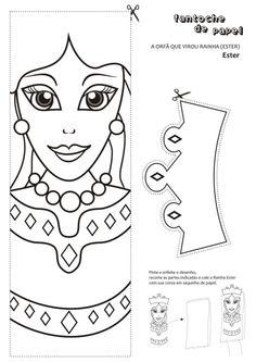 Tia Sarah Bandeira Escola Biblica Dominical: Desenhos para colorir: A rainha Ester