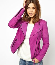 Radiant Orchid Moto Jacket by The Frisky. #fashion #design