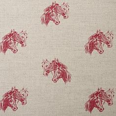 Country Collection             | Horses Head Print - Classic Collection - Fabric - Emily Bond England