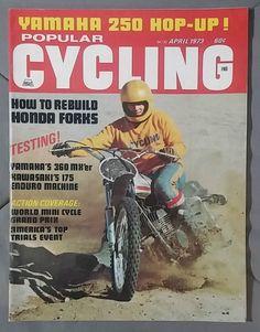 1973 April Popular Cycling Magazine Yamaha 360 Kawasaki Enduro Moto x Dirt Bike | eBay