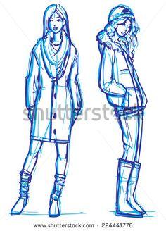 Image result for fashion model sketch