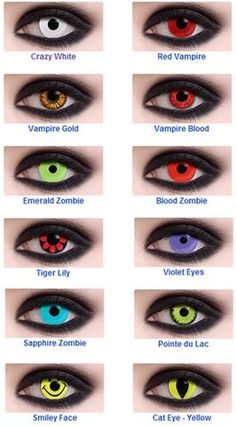 FDA's Halloween Contact Hysteria - Political Dresser Pretty Eyes, Cool Eyes, Beautiful Eyes, Halloween Contacts, Halloween Makeup, Contact Lenses Halloween, Witcher Wallpaper, Eye Color Chart, Colored Eye Contacts