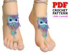 Barefoot Sandals Crochet Pattern bridesmaids gift SHELL