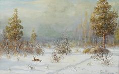 A Winter Hunting Scene, 1905, Vladimir Leonidovich Muraviov