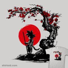 Saiyan Under the Sun | Shirtoid #anime #cherryblossoms #ddjvigo #dragonball #dragonballz #goku #japanese #saiyan #tvshow