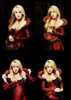 beautiful Stevie in red times 4 ~ ☆♥❤♥☆ ~ Look Vintage, Vintage Ladies, Buckingham Nicks, Stephanie Lynn, Stevie Nicks Fleetwood Mac, Fairy Godmother, Beautiful Voice, Female Singers, Her Music