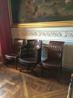 Look at those parquet floors and the boiserie, Trianon, Versailles