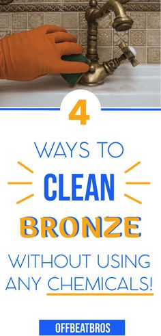 How to clean bronze easy and fast? Here is your complete cleaning guide with some easy cleaning tips and tricks to clean bronze. These cleaning hacks will make cleaning bronze items a piece of cake. Household Cleaning Tips, Diy Cleaning Products, Cleaning Solutions, Cleaning Hacks, Microwave Cleaning, Arm And Hammer Super Washing Soda, Cleaning Faucets, Commercial Cleaners, Dawn Dish Soap