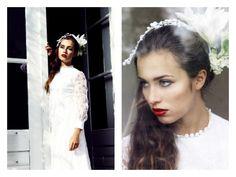 Extravaganter weißer Brautschmuck mit Lilie von Snowwhite and Rosered auf DaWanda.com