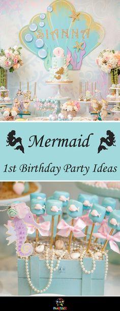 Girls 1st Birthday Party - Mermaid Theme.