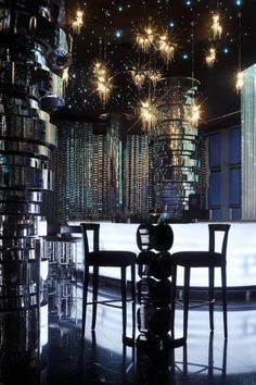 Neos bar at the The Address Downtown Dubai Hotel by Atkins Architects