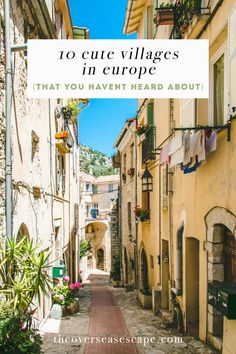 10 Cute Villages in Europe (that you haven't heard about!) – The Overseas Escape Planning a trip to visit Europe! Backpacking Europe, Europe Travel Tips, Travel Abroad, Places To Travel, Travel Destinations, Europe Packing, Travel Plan, Packing Lists, Travel Deals