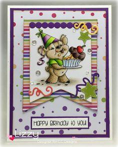 Celebrate stamp set, Birthday Wishes sentiments, Make a Banner dies, Make a Card #14 Birthday, Rainbow Paper Pad