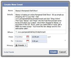 invite to host a pampered chef facebook party! | i want to, Party invitations
