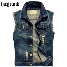 Men Jean Vest Punk Style 2015 New Fashion Multi use Gilet Mens Sleeveless Denim Jackets MWB135|04c41c48-c0cd-4758-8c53-cae81b551c04|Vests & Waistcoats